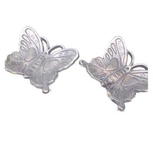Wrought iron bronze butterfly candle holders